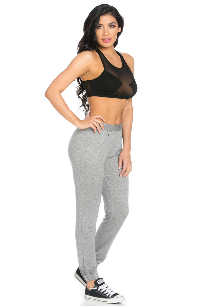 Lightweight Heather Grey Harem Joggers - Jogger Pants - My Yuccie - 10