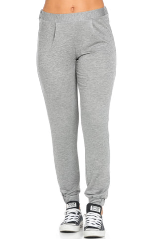 Lightweight Heather Grey Harem Joggers - Jogger Pants - My Yuccie - 1