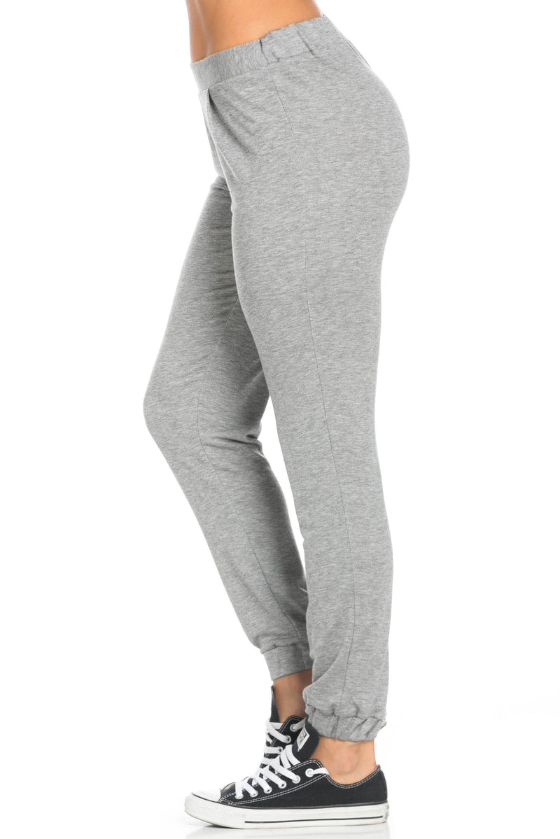 Lightweight Heather Grey Harem Joggers - Jogger Pants - My Yuccie - 3