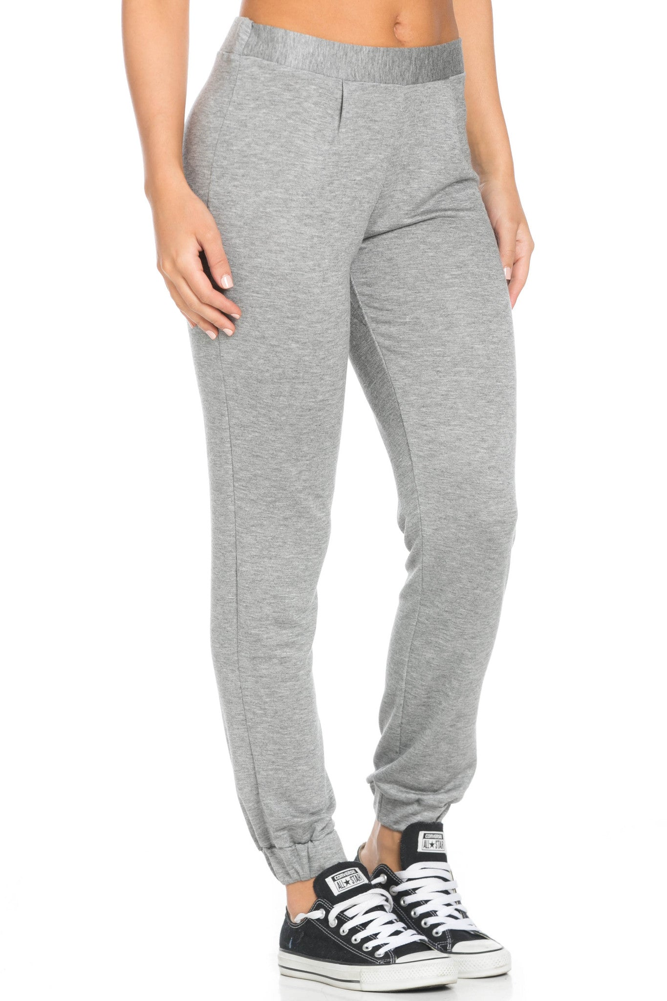 Lightweight Heather Grey Harem Joggers - Jogger Pants - My Yuccie - 5
