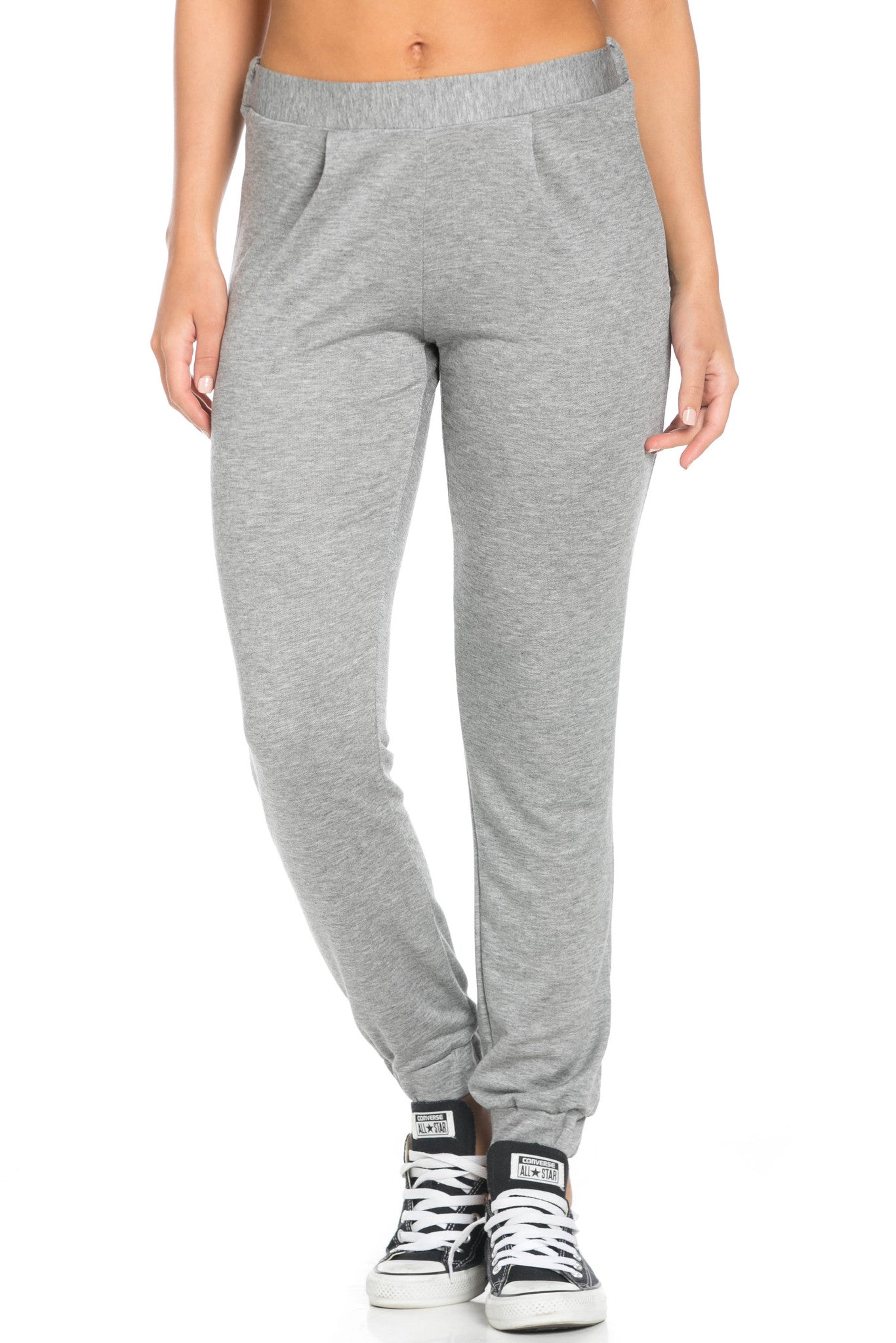 Lightweight Heather Grey Harem Joggers - Jogger Pants - My Yuccie - 6