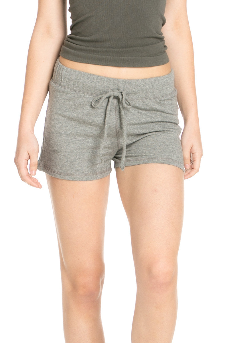 Casual Knit Shorts Heather Grey - Shorts - My Yuccie - 1