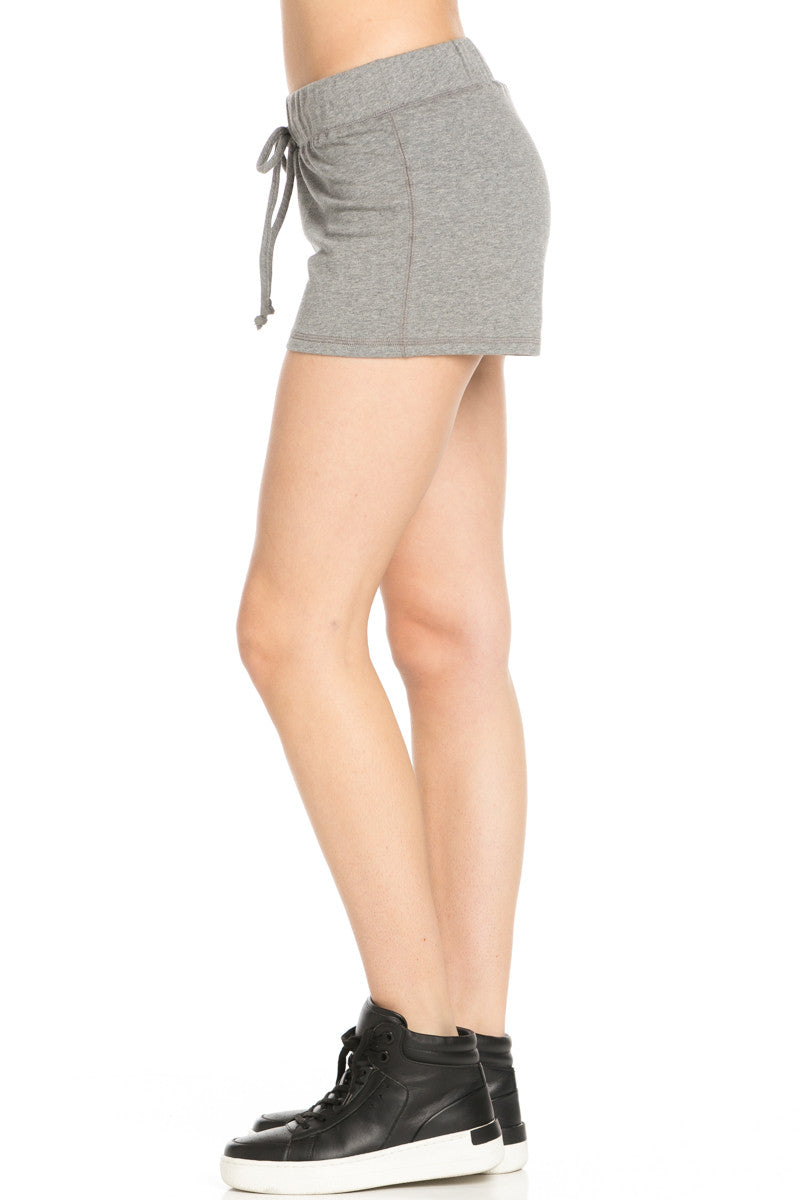 Casual Knit Shorts Heather Grey - Shorts - My Yuccie - 3