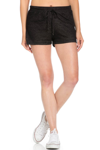 Lightweight French Terry Black Track Shorts - Shorts - My Yuccie - 1