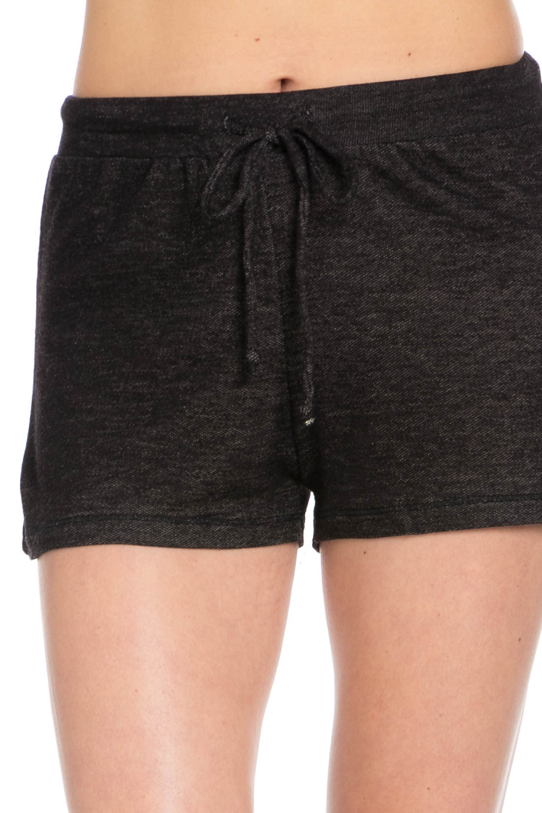Lightweight French Terry Black Track Shorts - Shorts - My Yuccie - 6
