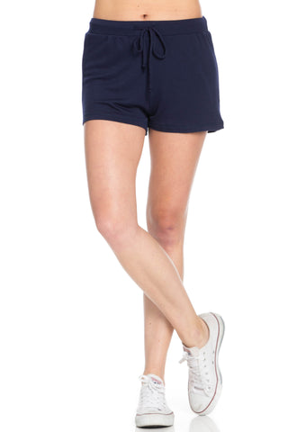 Lightweight French Terry Navy Track Shorts - Shorts - My Yuccie - 1