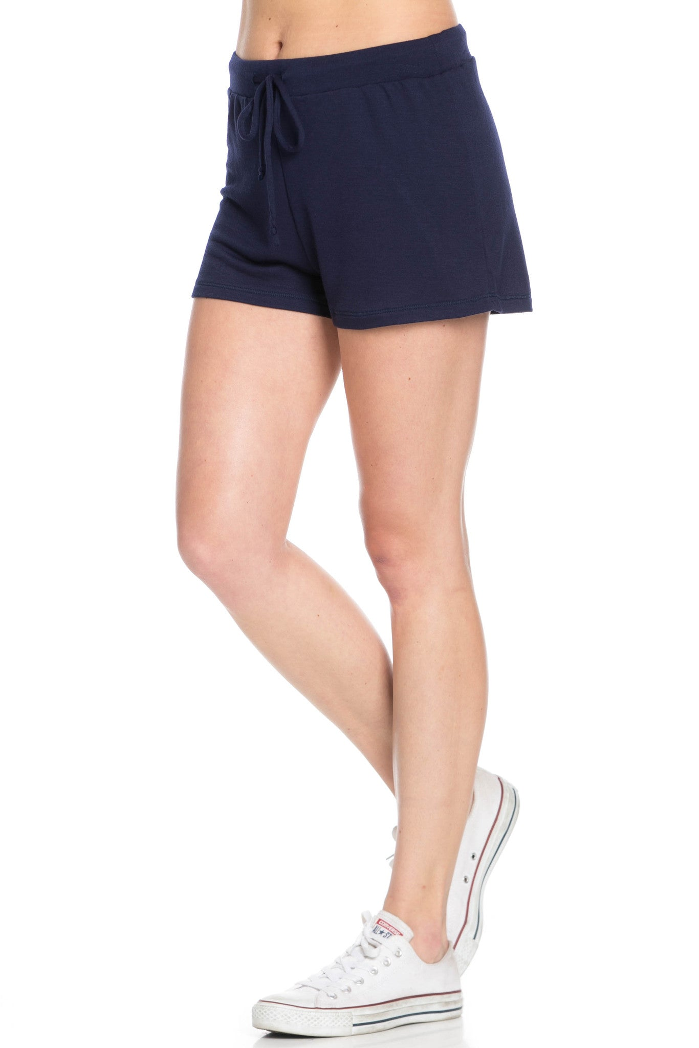 Lightweight French Terry Navy Track Shorts - Shorts - My Yuccie - 2