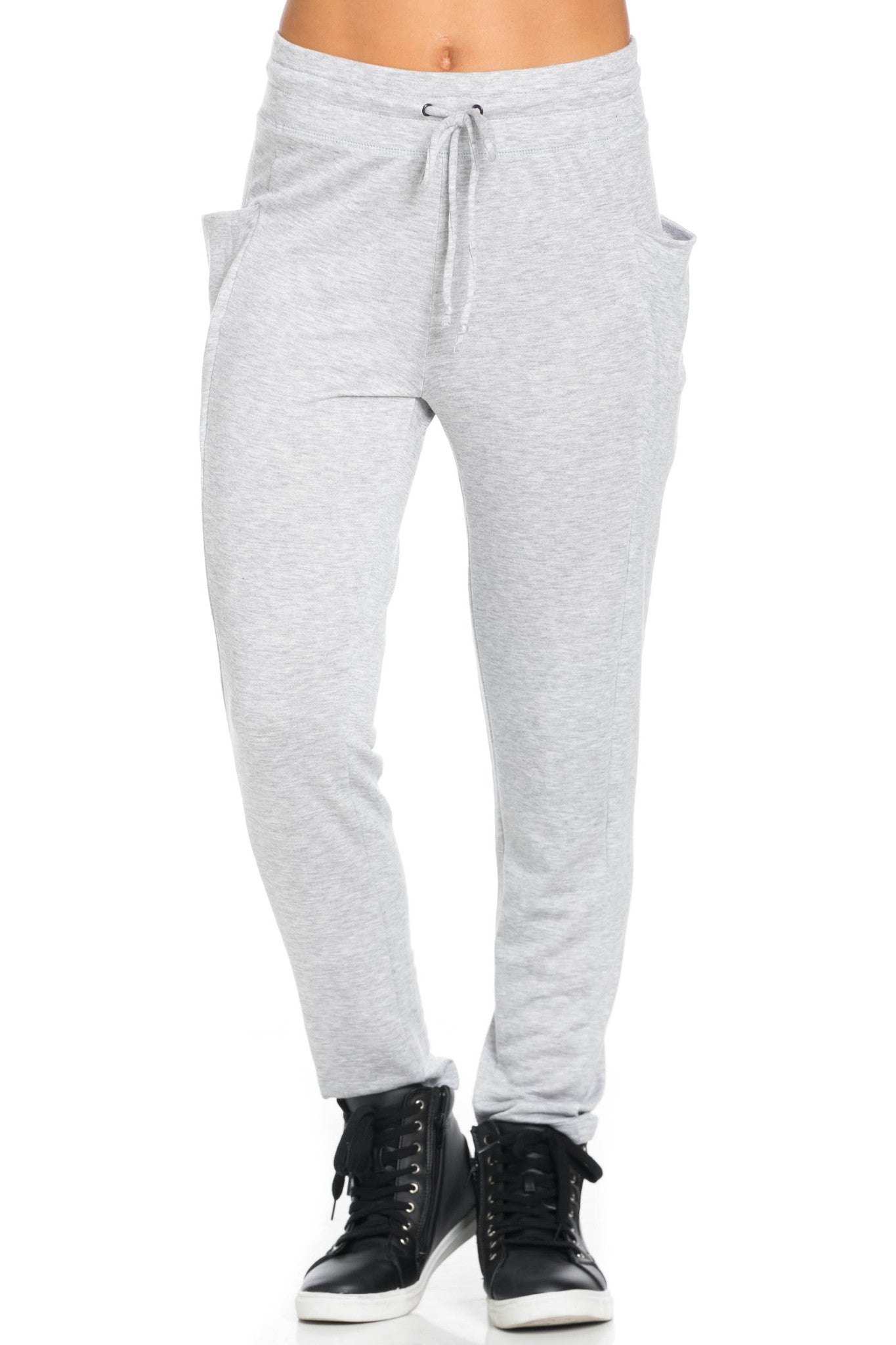 Heather Grey Harem Pants - Pants - My Yuccie - 3