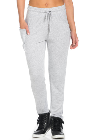 Heather Grey Harem Pants - Pants - My Yuccie - 1
