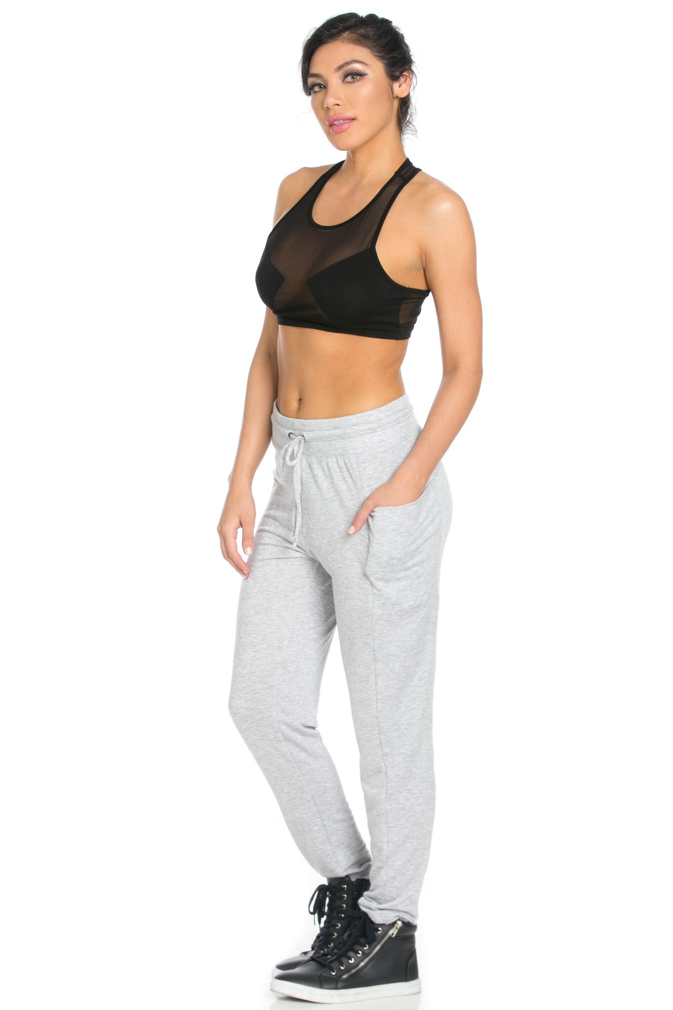 Heather Grey Harem Pants - Pants - My Yuccie - 10