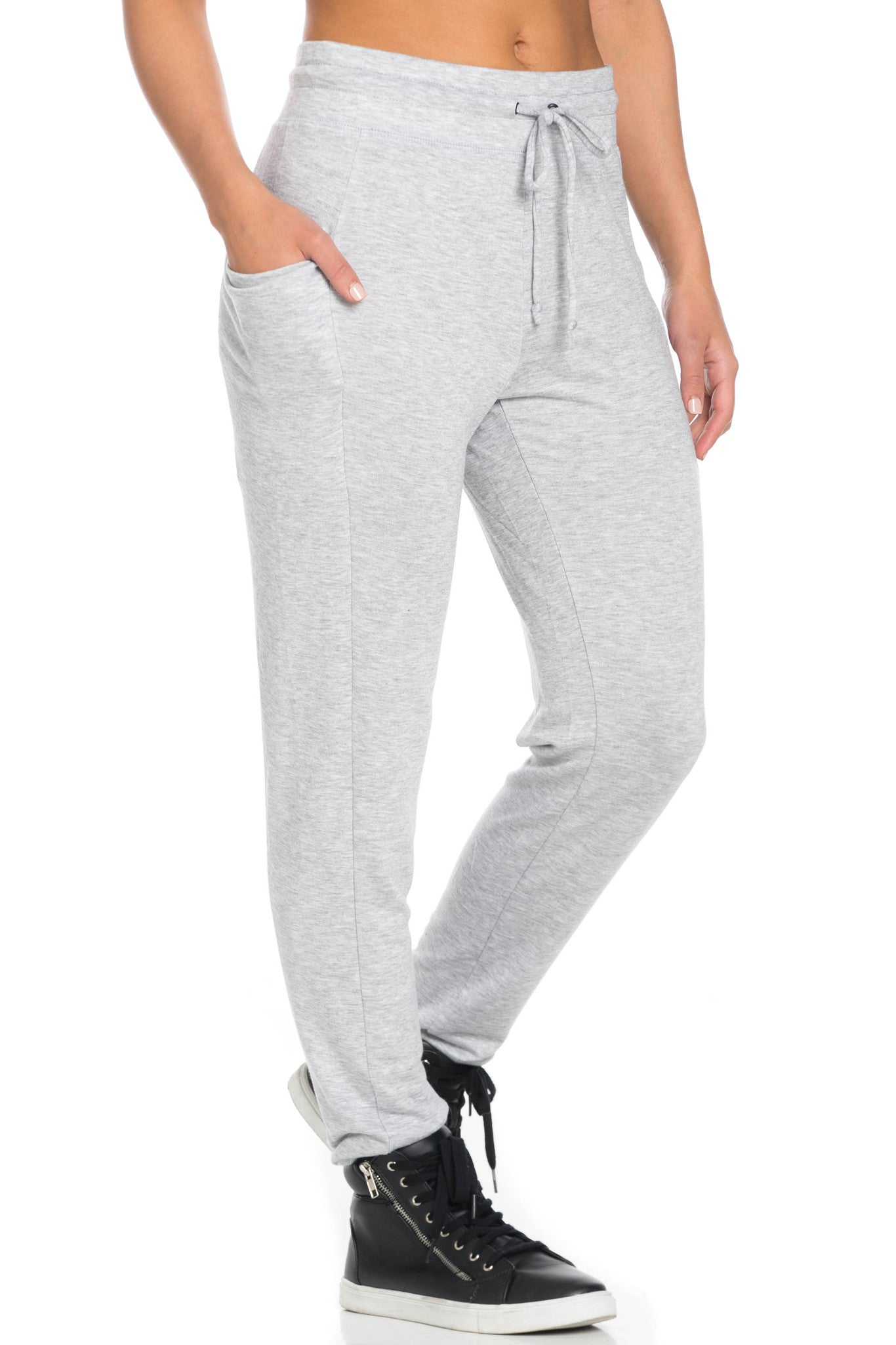 Heather Grey Harem Pants - Pants - My Yuccie - 2