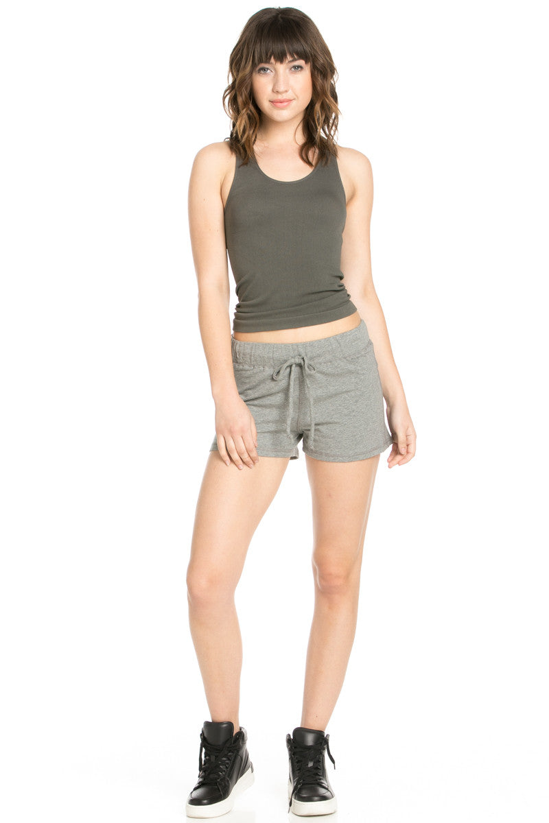 Casual Knit Shorts Heather Grey - Shorts - My Yuccie - 7