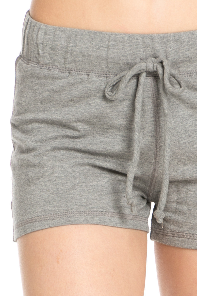 Casual Knit Shorts Heather Grey - Shorts - My Yuccie - 5