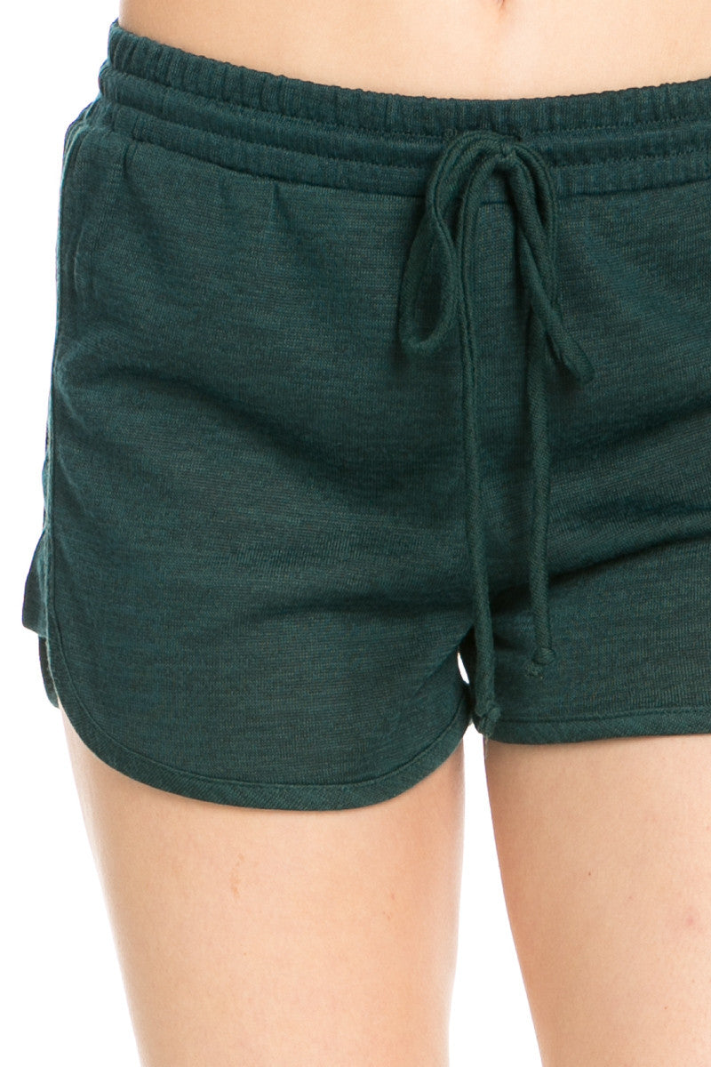 Forest Green Knit Track Shorts - Shorts - My Yuccie - 4