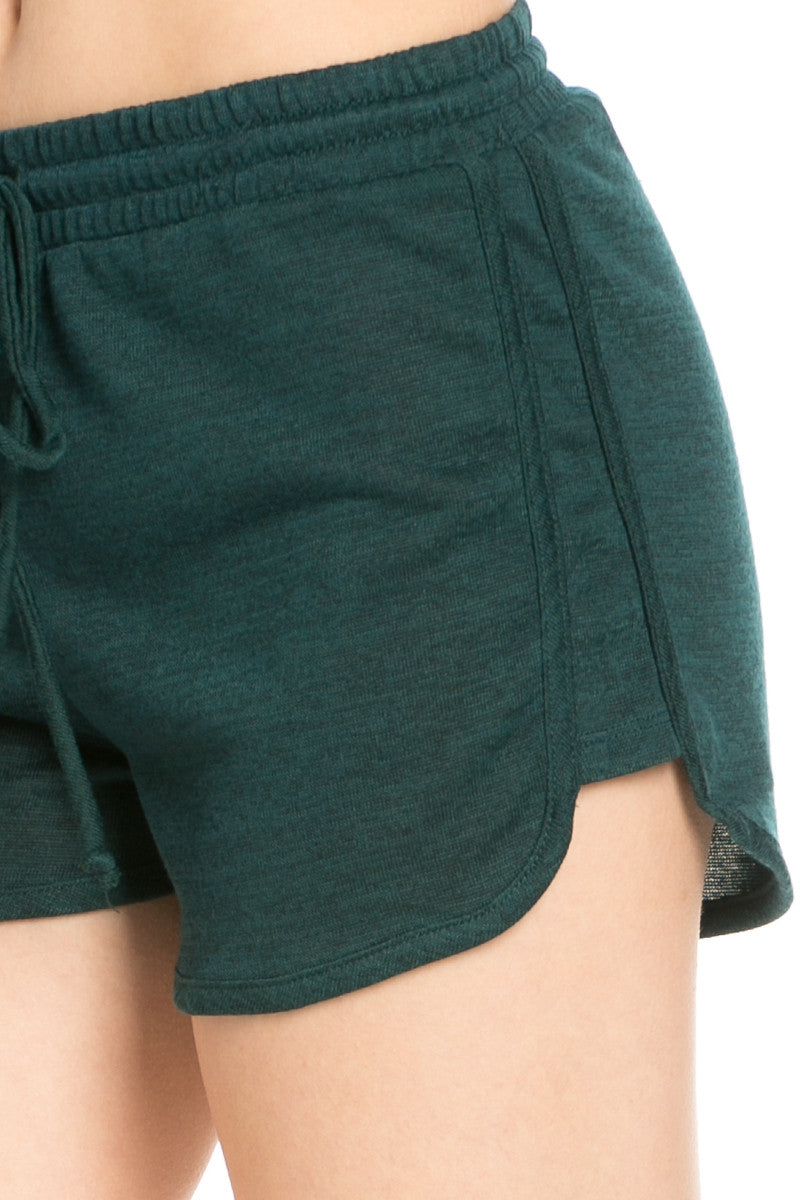 Forest Green Knit Track Shorts - Shorts - My Yuccie - 5