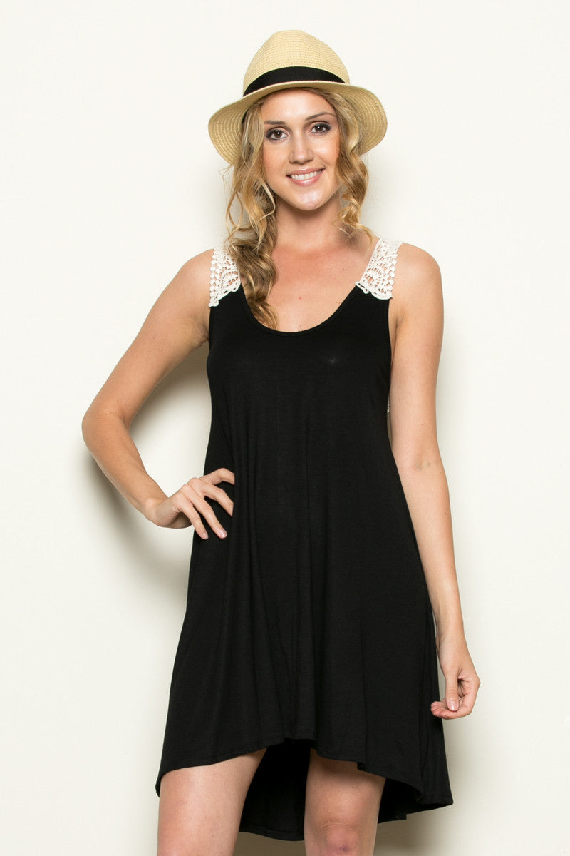 Crochet Tunic Black - Tunic - My Yuccie - 1