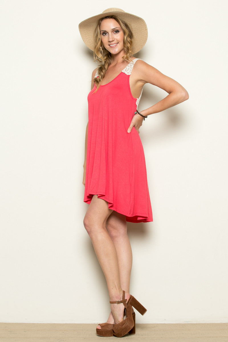 Crochet Tunic Coral - Tunic - My Yuccie - 4