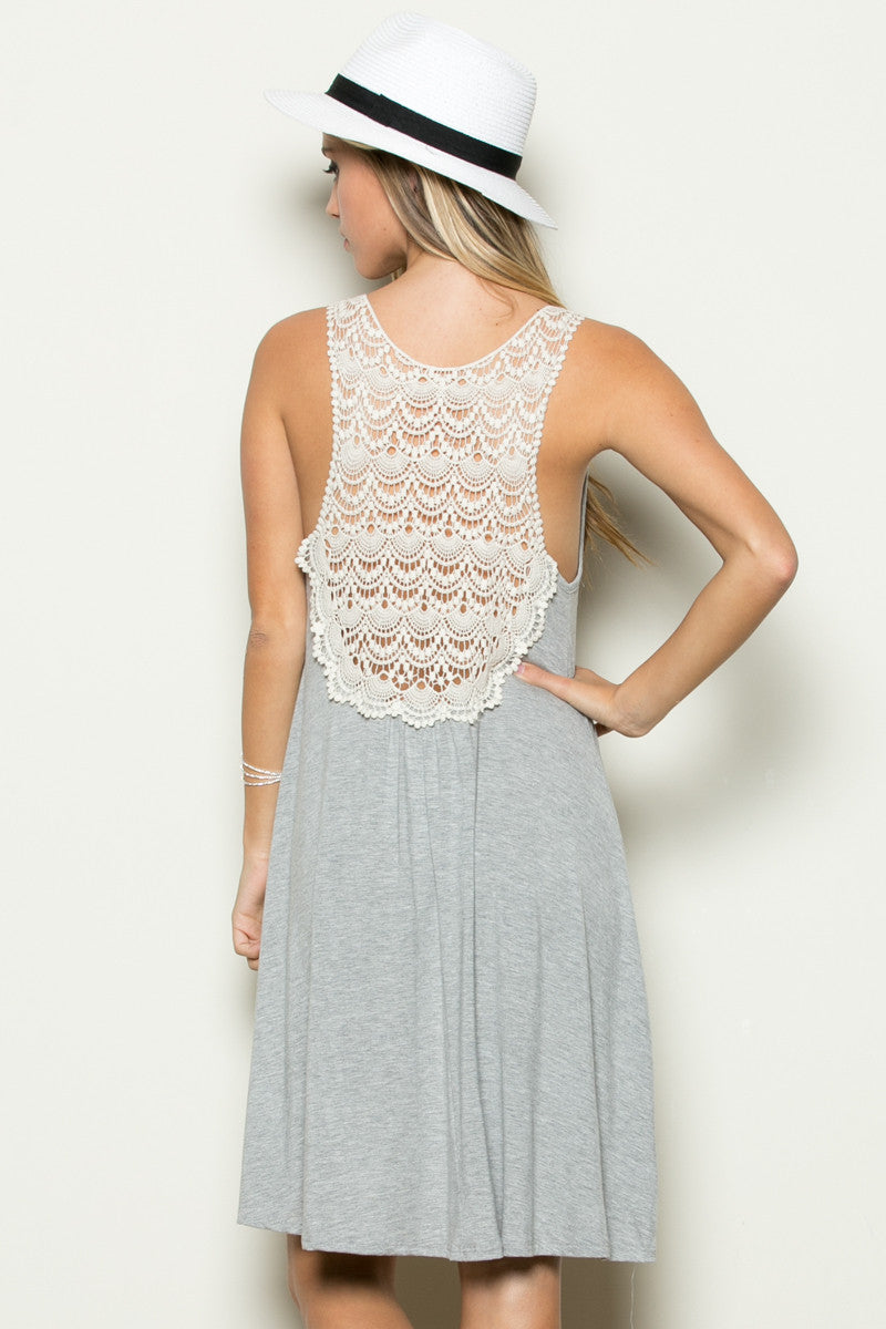Crochet Tunic Heather Grey - Tunic - My Yuccie - 3