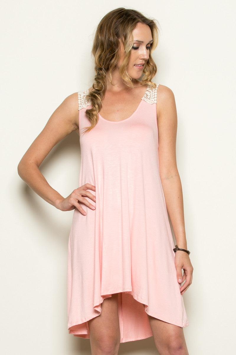 Crochet Tunic Light Pink - Tunic - My Yuccie - 1