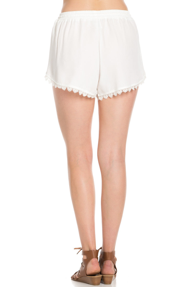 Crochet Scalloped Shorts White - Shorts - My Yuccie - 4