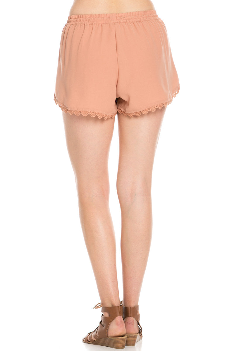 Crochet Scalloped Shorts Tan - Shorts - My Yuccie - 4