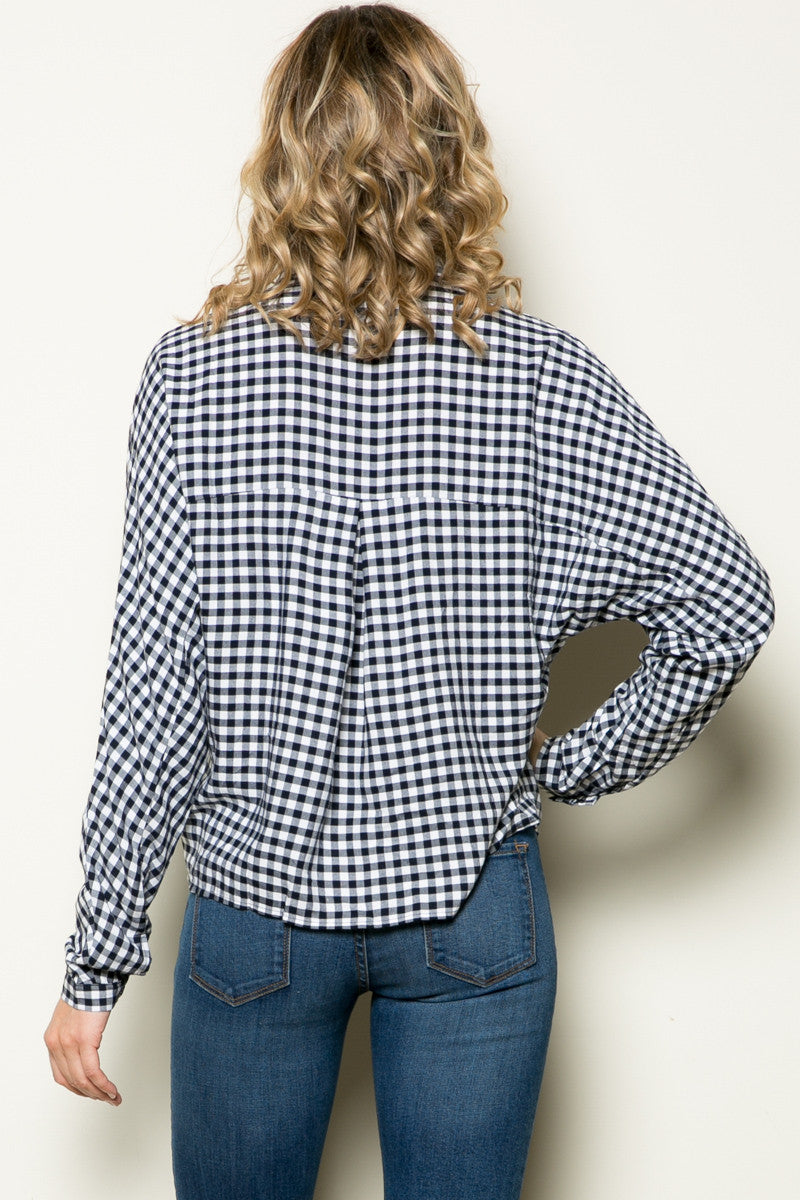 Gingham Shirt Navy White - Shirts - My Yuccie - 11