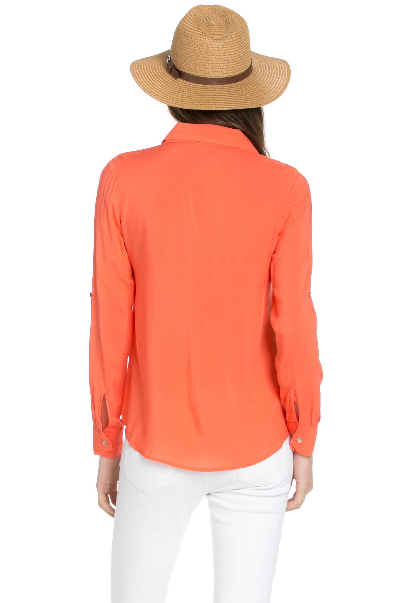 Button Up Shirt Coral - Tops - My Yuccie - 3