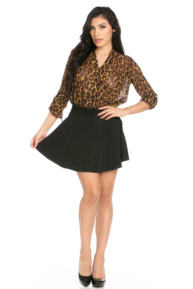 Micro Wafer Black Skater Skirt - Skirts - My Yuccie - 6
