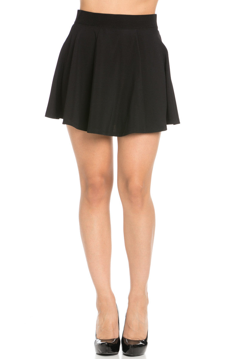 Micro Wafer Black Skater Skirt - Skirts - My Yuccie - 1