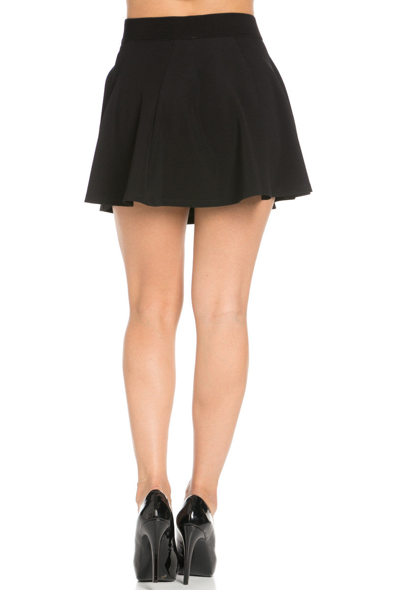 Micro Wafer Black Skater Skirt - Skirts - My Yuccie - 5