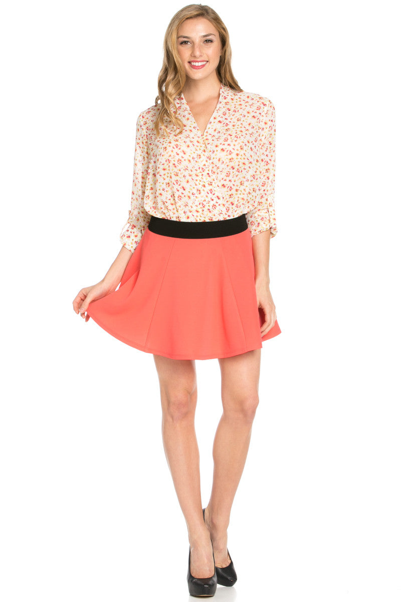 Micro Wafer Coral Skater Skirt - Skirts - My Yuccie - 8