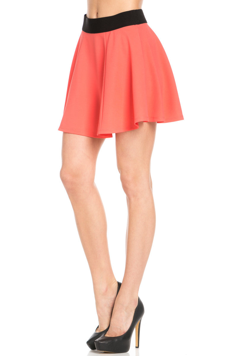 Micro Wafer Coral Skater Skirt - Skirts - My Yuccie - 3