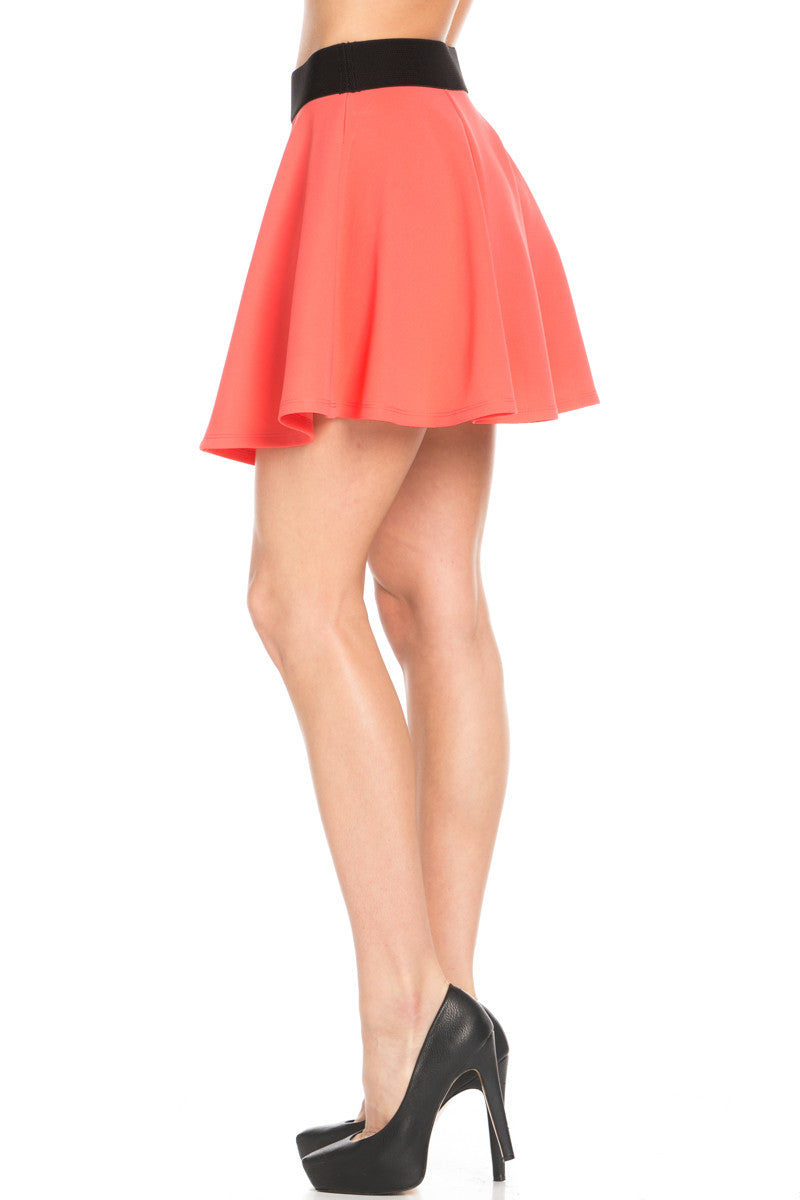 Micro Wafer Coral Skater Skirt - Skirts - My Yuccie - 4