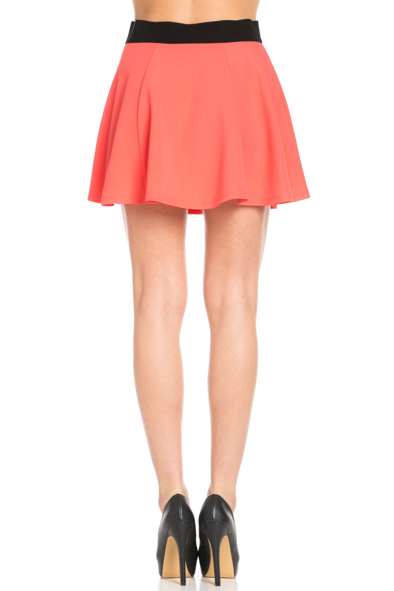 Micro Wafer Coral Skater Skirt - Skirts - My Yuccie - 5