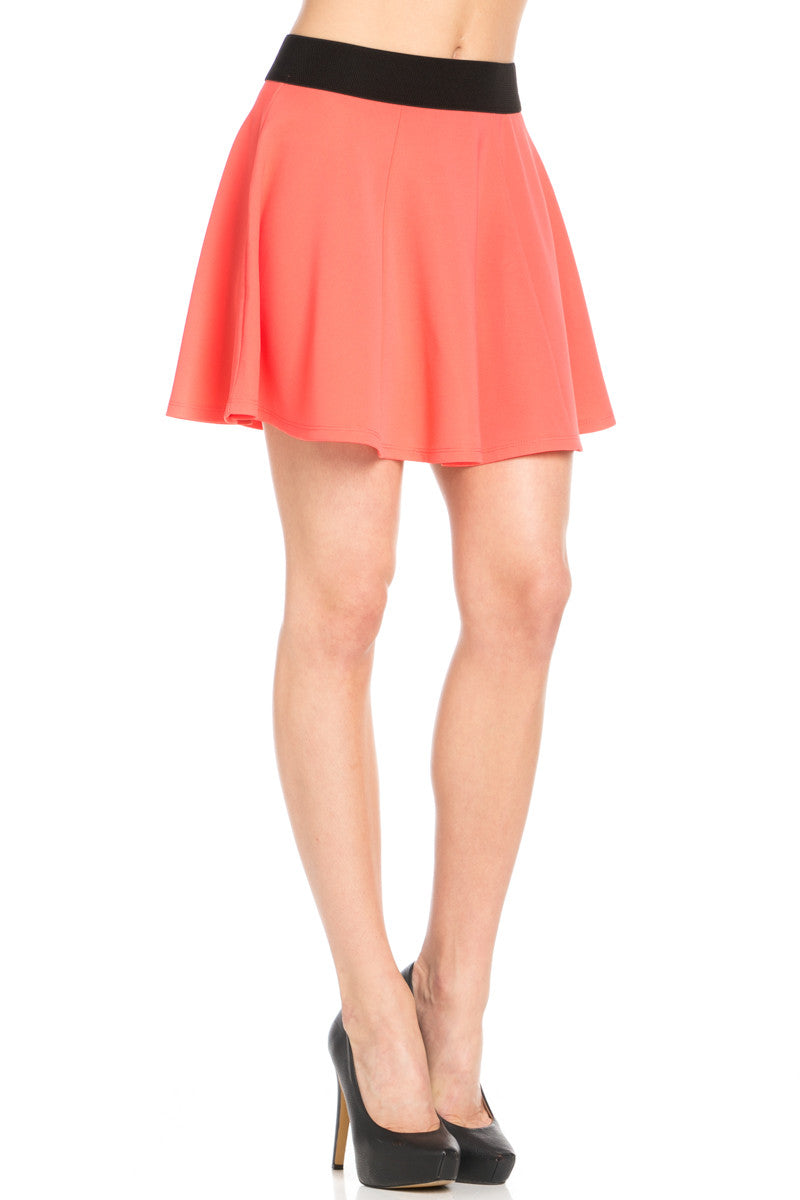 Micro Wafer Coral Skater Skirt - Skirts - My Yuccie - 6