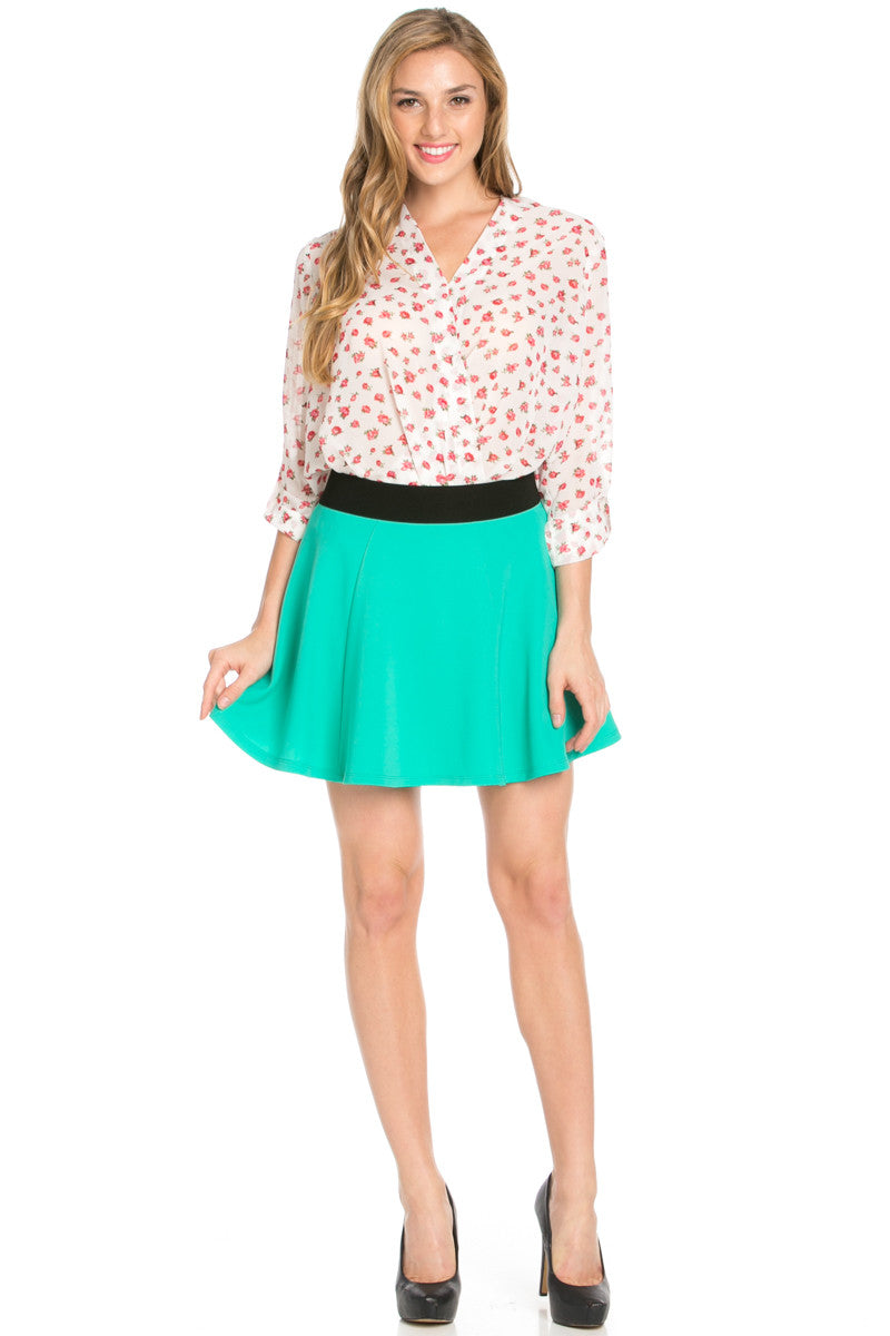 Micro Wafer Jade Skater Skirt - Skirts - My Yuccie - 7