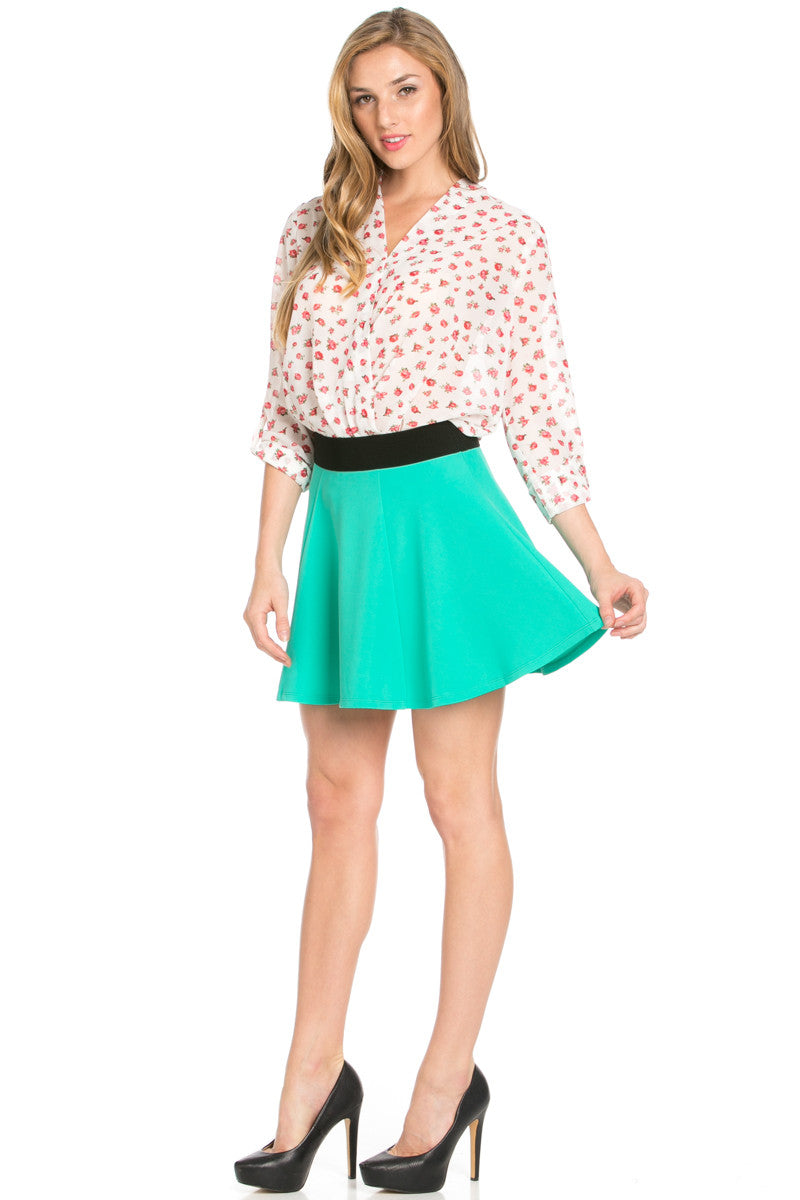 Micro Wafer Jade Skater Skirt - Skirts - My Yuccie - 8