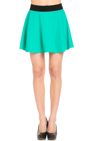 Micro Wafer Jade Skater Skirt - Skirts - My Yuccie - 1
