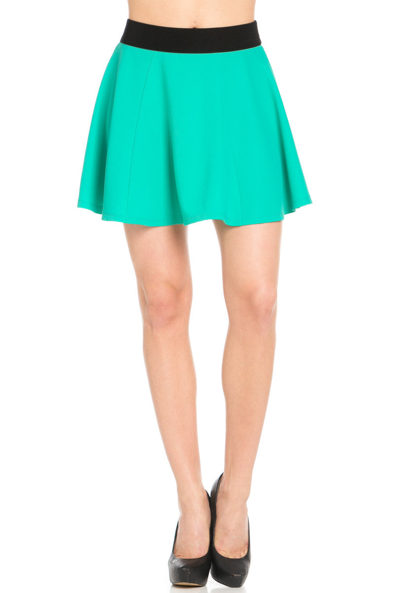 Micro Wafer Jade Skater Skirt - Skirts - My Yuccie - 2