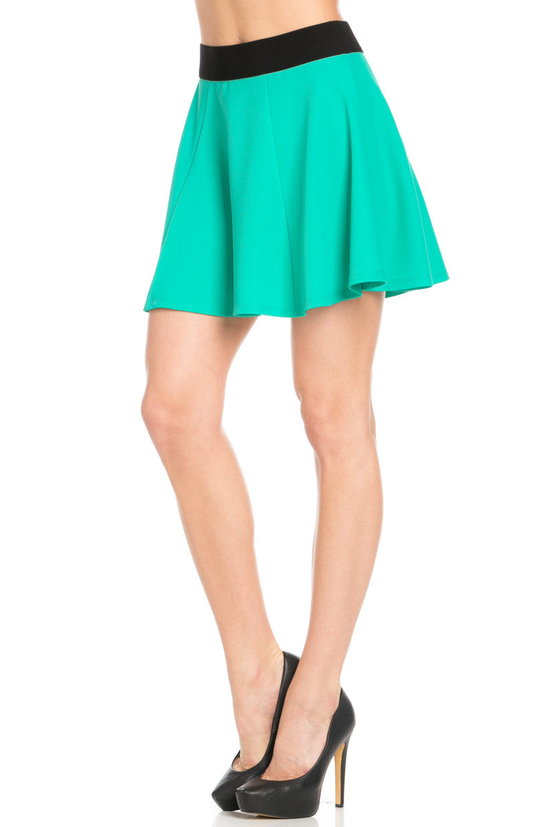 Micro Wafer Jade Skater Skirt - Skirts - My Yuccie - 3