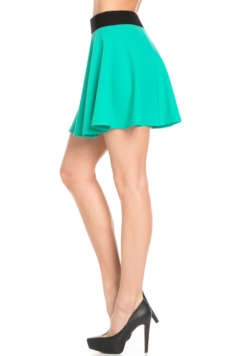 Micro Wafer Jade Skater Skirt - Skirts - My Yuccie - 4