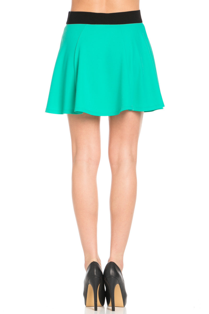 Micro Wafer Jade Skater Skirt - Skirts - My Yuccie - 5