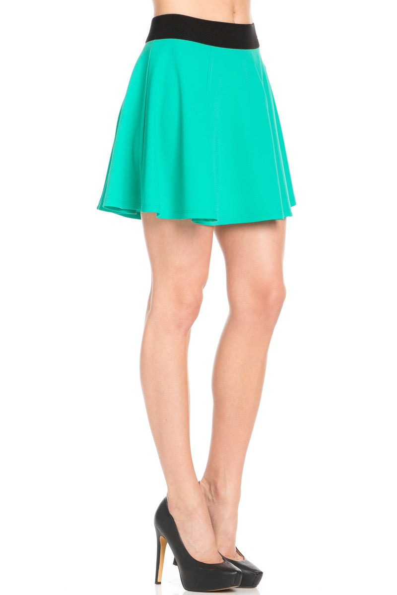 Micro Wafer Jade Skater Skirt - Skirts - My Yuccie - 6