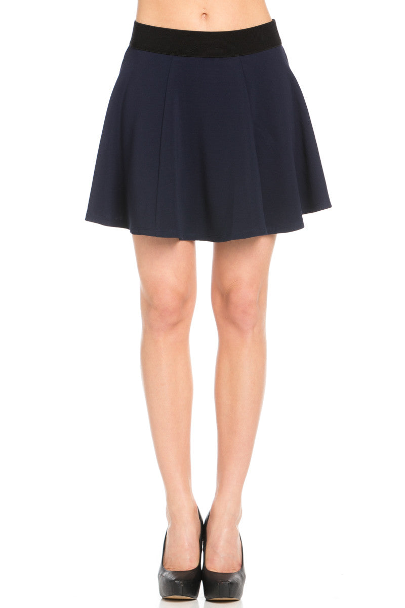 Micro Wafer Navy Skater Skirt - Skirts - My Yuccie - 2