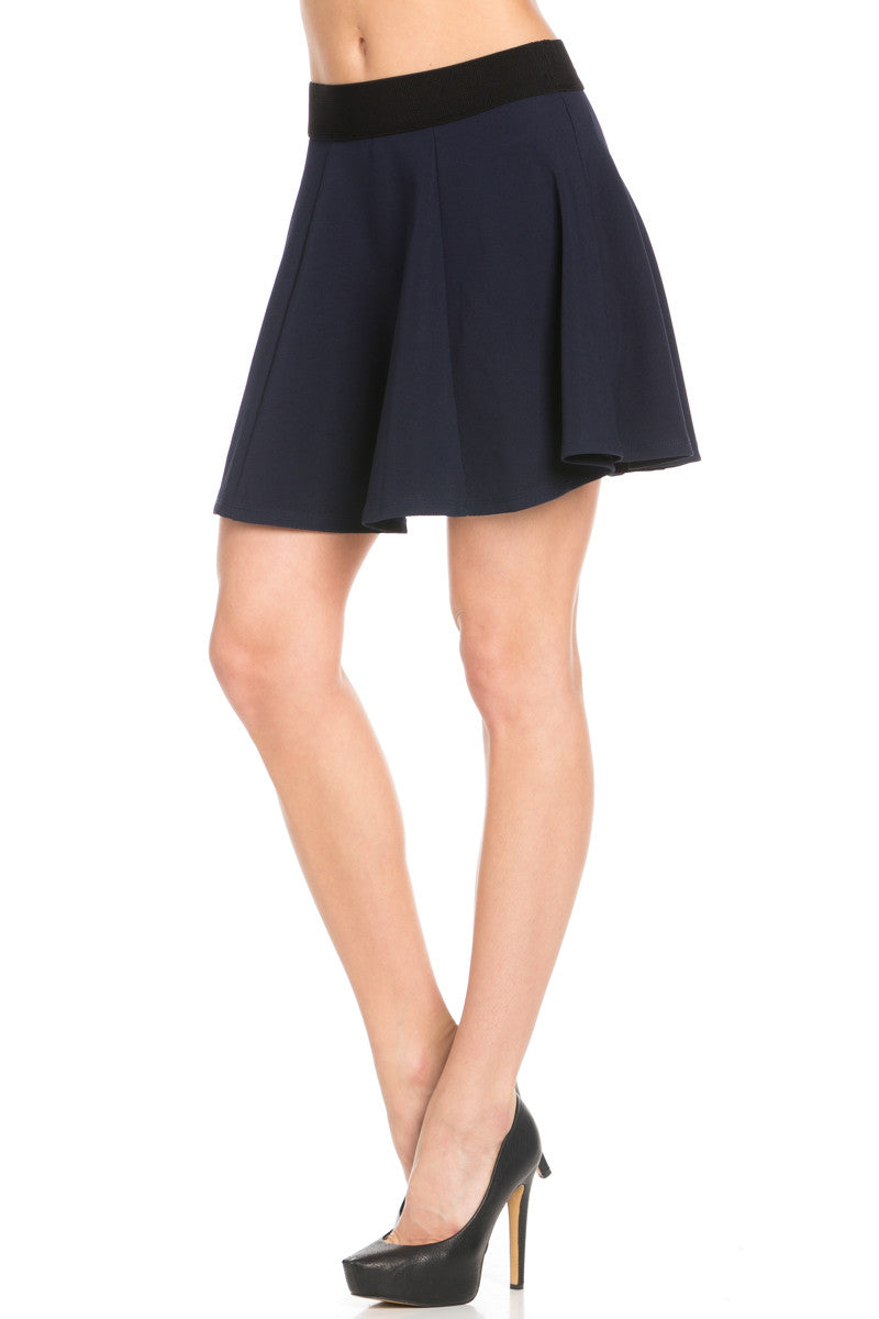 Micro Wafer Navy Skater Skirt - Skirts - My Yuccie - 3