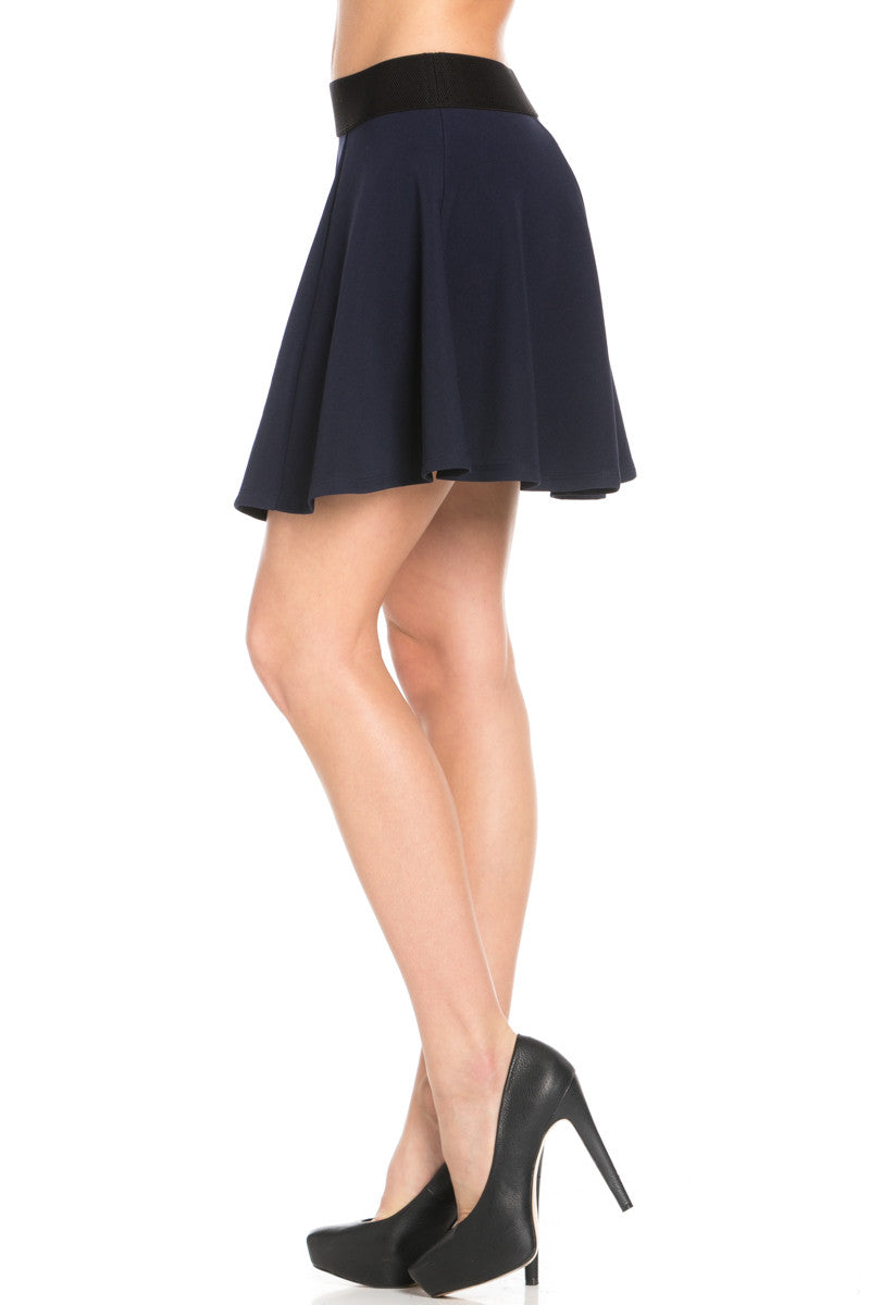 Micro Wafer Navy Skater Skirt - Skirts - My Yuccie - 4