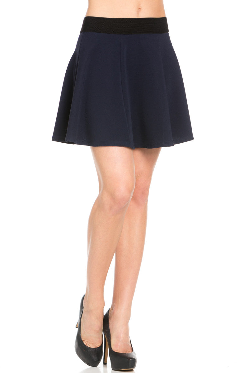 Micro Wafer Navy Skater Skirt - Skirts - My Yuccie - 5
