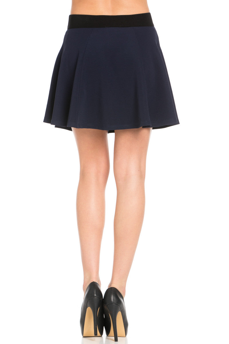 Micro Wafer Navy Skater Skirt - Skirts - My Yuccie - 6