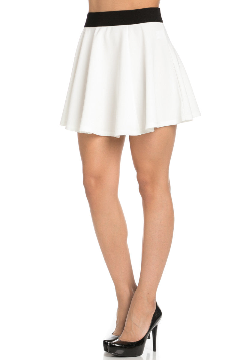 Micro Wafer White Skater Skirt - Skirts - My Yuccie - 2