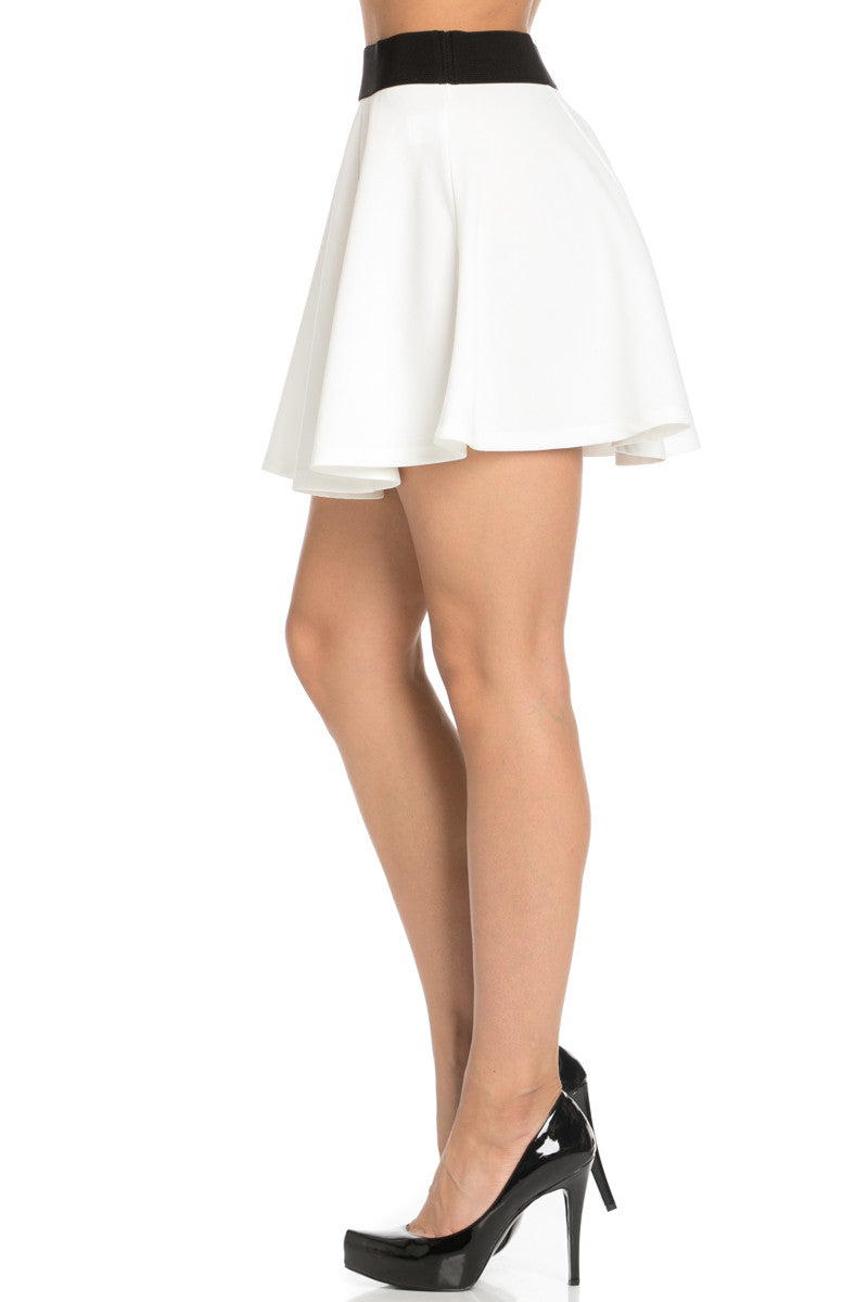 Micro Wafer White Skater Skirt - Skirts - My Yuccie - 3